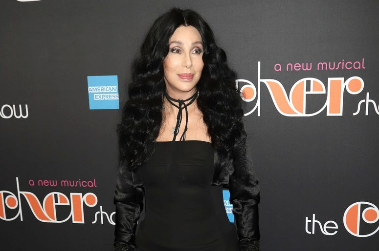 """Cher attends the opening night of """"The Cher Show"""" on Broadway at the Neil Simon Theatre in New York."""