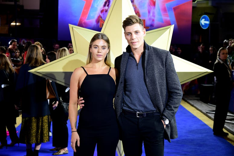 Laura Crane and Tristan Phipps attending the Captain Marvel European Premiere held at the Curzon Mayfair, London.
