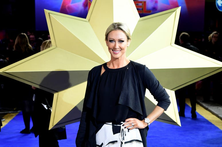 Faye Tozer attending the Captain Marvel European Premiere held at the Curzon Mayfair, London. Picture date: Wednesday February 27, 2019.