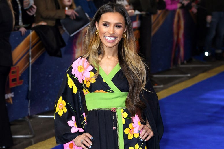 Melody Thornton attending the European premiere of Captain Marvel at Curzon Mayfair, London.