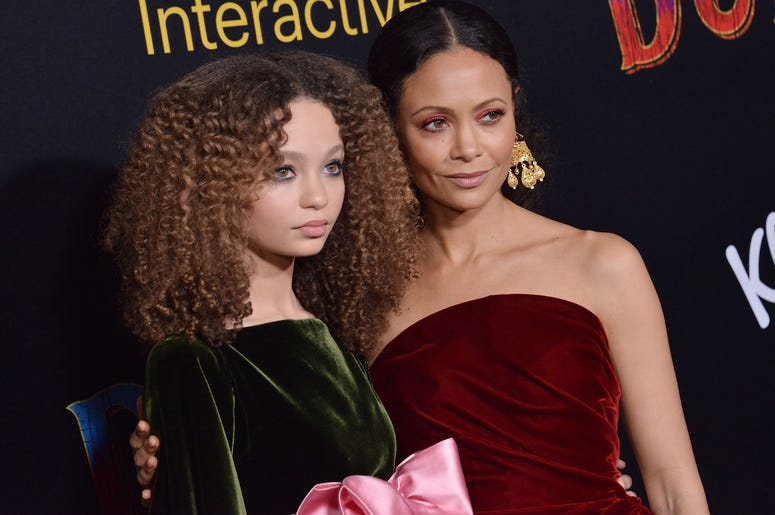 """(L-R) Nico Parker and Thandie Newton at Disney's """"Dumbo"""" Los Angeles Premiere held at the El Capitan Theatre in Hollywood, CA on Monday, March 11, 2019."""
