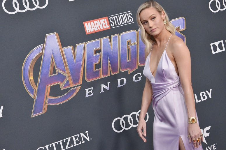 "Brie Larson arrives at Marvel Studios' ""Avengers: Endgame"" World Premiere held at the Los Angeles Convention Center in Los Angeles, CA on Monday, April 22, 2019."