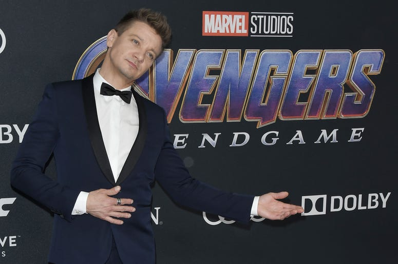 "Jeremy Renner arrives at Marvel Studios' ""Avengers: Endgame"" World Premiere held at the Los Angeles Convention Center in Los Angeles, CA on Monday, April 22, 2019."