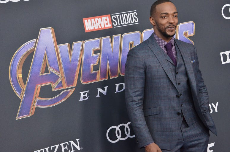 "Anthony Mackie arrives at Marvel Studios' ""Avengers: Endgame"" World Premiere held at the Los Angeles Convention Center in Los Angeles, CA on Monday, April 22, 2019."