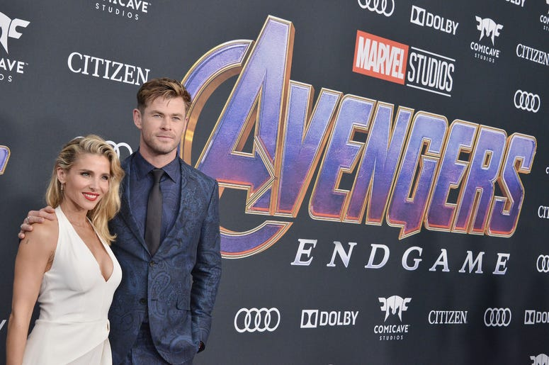 "(L-R) Elsa Pataky and Chris Hemsworth at Marvel Studios' ""Avengers: Endgame"" World Premiere held at the Los Angeles Convention Center in Los Angeles, CA on Monday, April 22, 2019."