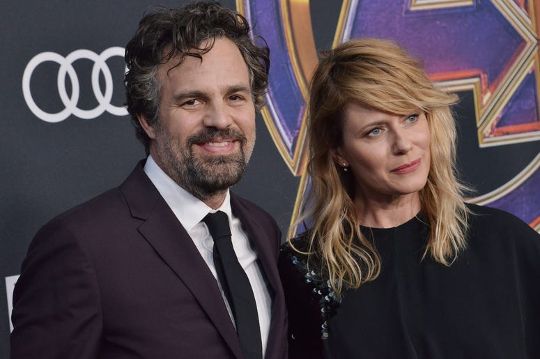 "(L-R) Mark Ruffalo and Sunrise Coigney at Marvel Studios' ""Avengers: Endgame"" World Premiere held at the Los Angeles Convention Center in Los Angeles, CA on Monday, April 22, 2019."