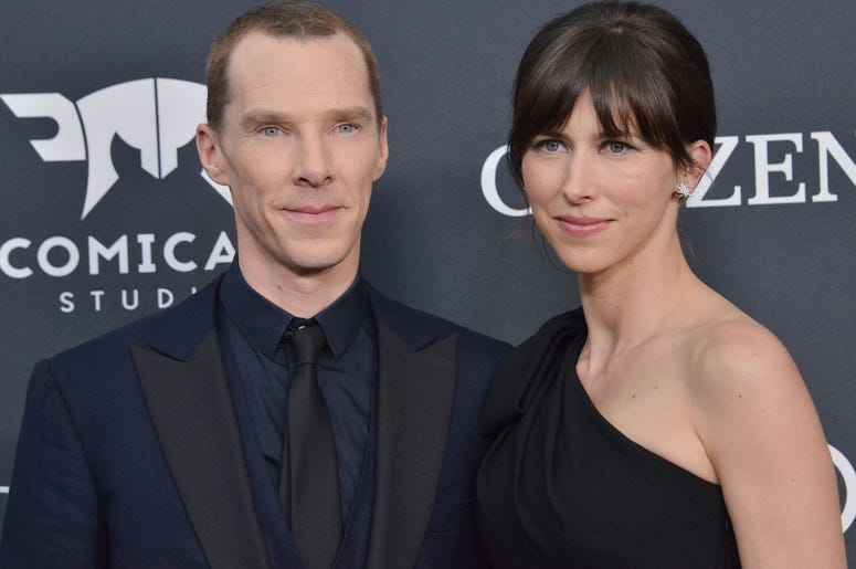 "(L-R) Benedict Cumberbatch and Sophie Hunter at Marvel Studios' ""Avengers: Endgame"" World Premiere held at the Los Angeles Convention Center in Los Angeles, CA on Monday, April 22, 2019."