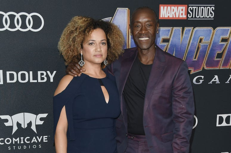 "(L-R) Bridgid Coulter and Don Cheadle at Marvel Studios' ""Avengers: Endgame"" World Premiere held at the Los Angeles Convention Center in Los Angeles, CA on Monday, April 22, 2019."