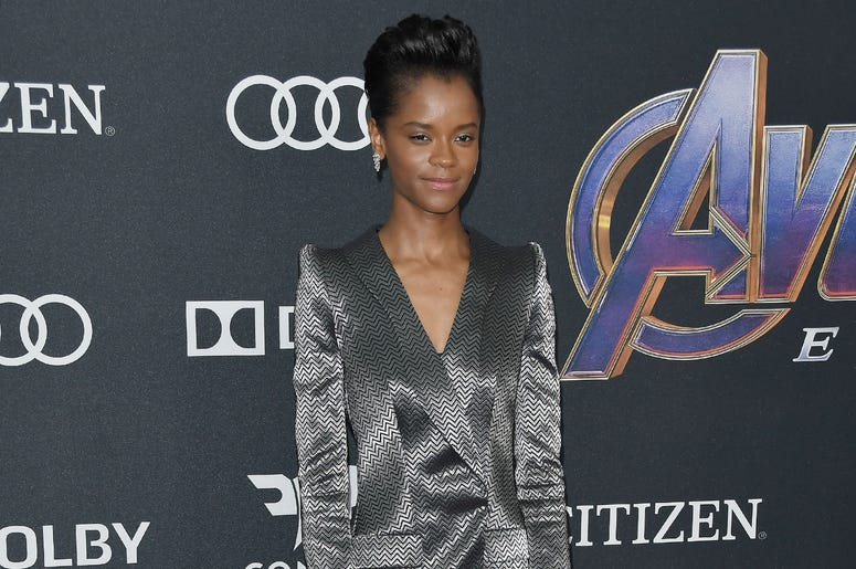 "Letitia Wright arrives at Marvel Studios' ""Avengers: Endgame"" World Premiere held at the Los Angeles Convention Center in Los Angeles, CA on Monday, April 22, 2019."