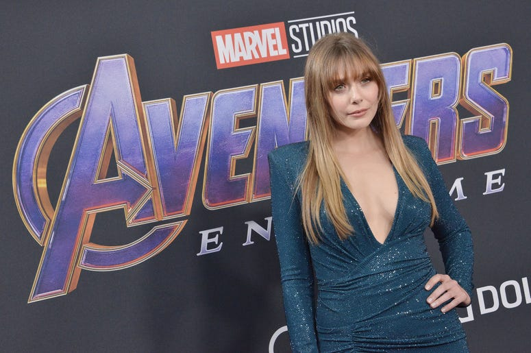 "Elizabeth Olsen arrives at Marvel Studios' ""Avengers: Endgame"" World Premiere held at the Los Angeles Convention Center in Los Angeles, CA on Monday, April 22, 2019."