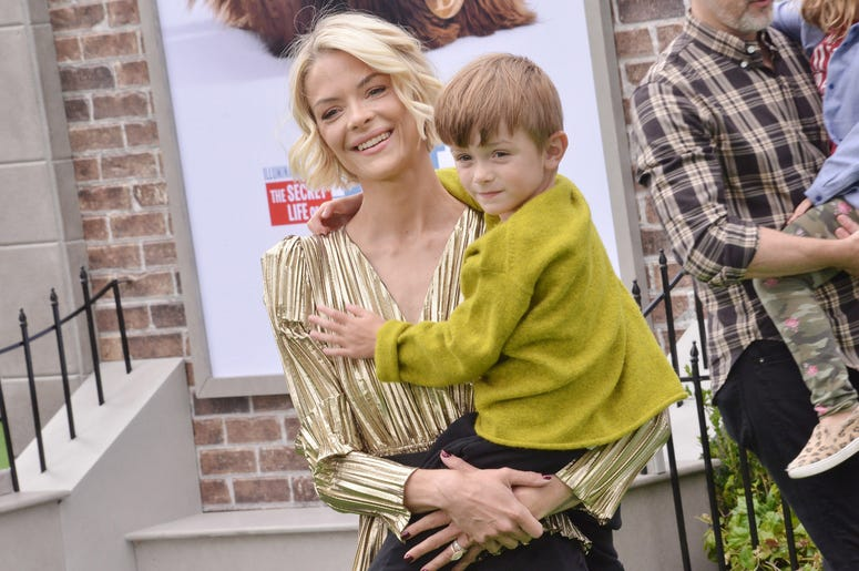 Jaime King and son Leo Thames Newman at the Universal Pictures THE SECRET LIFE OF PETS 2 Los Angeles Premiere held at the Regency Village Theatre in Westwood, CA on Sunay, June 2, 2019.