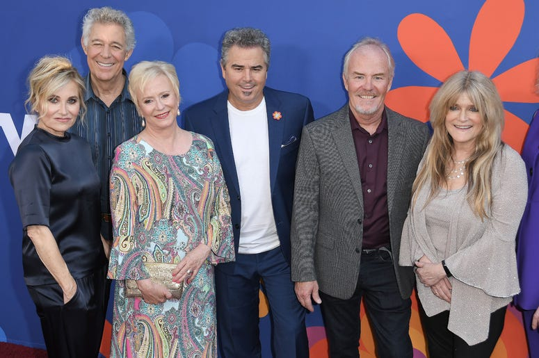 (L-R) THE BRADY BUNCH Cast - Maureen McCormick, Barry Williams, Eve Plumb, Mike Lookinland and Susan Olsen at HGTV's A VERY BRADY RENOVATION Los Angeles Premiere held at The Garland Hotel in North Hollywood, CA on Thursday, September 5, 2019.