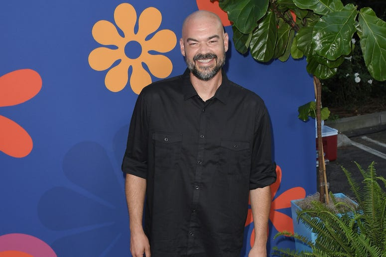 Aaron Goodwin arrives at HGTV's A VERY BRADY RENOVATION Los Angeles Premiere held at The Garland Hotel in North Hollywood, CA on Thursday, September 5, 2019.