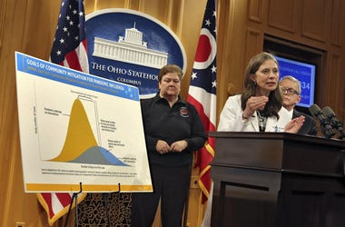 Ohio Department of Health Director Amy Acton, Gov. Mike DeWine and Sima Merick, Director of the Ohio Emergency Management Agency address guidelines for Ohioans to deal with the coronavirus including not attending indoor events including sports. They spoke