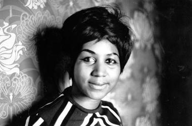 American soul singer Aretha Franklin