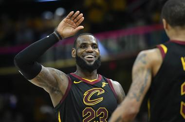 Cleveland Cavaliers forward LeBron James (