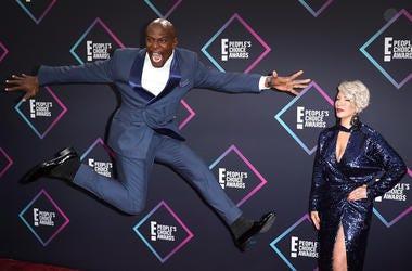 Rebecca King-Crews, Terry Crews attend the People's Choice Awards 2018 at Barker Hangar on November 11, 2018 in Santa Monica, California.