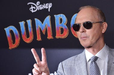 """Michael Keaton arrives at Disney's """"Dumbo"""" Los Angeles Premiere held at the El Capitan Theatre in Hollywood, CA on Monday, March 11, 2019."""