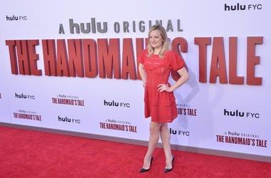 Elisabeth Moss arrives at Hulu's THE HANDMAID'S TALE Season 3 Finale held at the Regency Village Theatre in Westwood, CA on Tuesday, August 6, 2019.