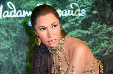 wax figure of singer Nicki Minaj at Madame Tussauds
