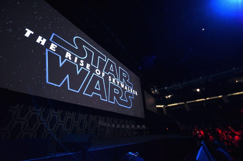 """A view of the atmosphere at """"The Rise of Skywalker"""" panel at the Star Wars Celebration at McCormick Place Convention Center on April 12, 2019 in Chicago, Illinois."""