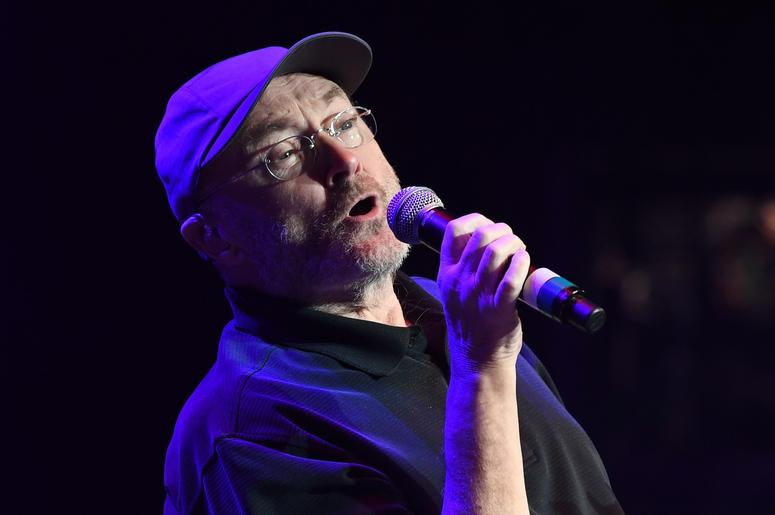 Phil Collins performs