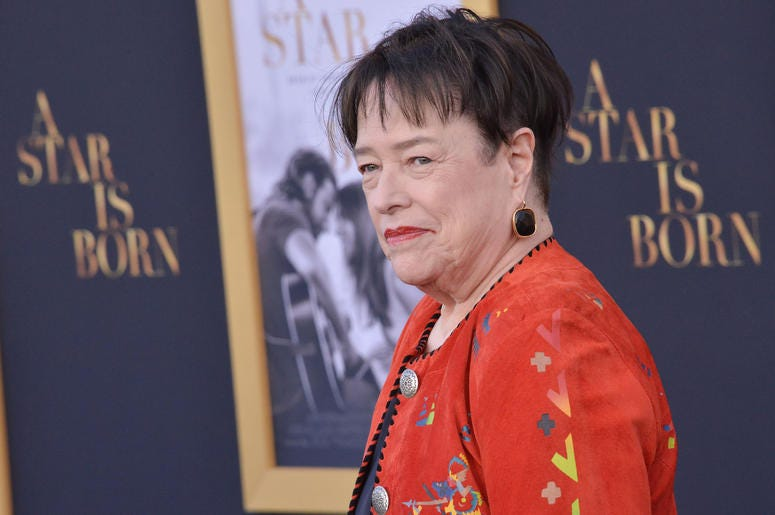 """Kathy Bates arrives at """"A Star Is Born"""" Los Angeles Premiere held at The Shrine Auditorium & Expo Hall in Los Angeles, CA on Monday, September 24, 2018."""