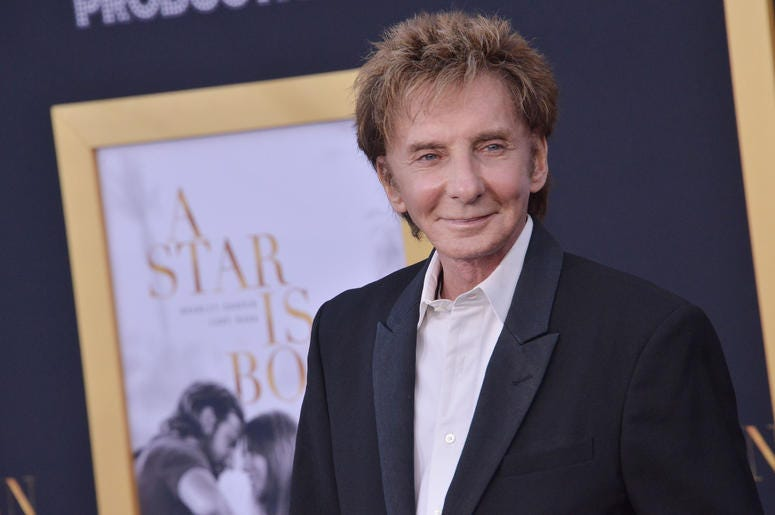"""Barry Manilow arrives at """"A Star Is Born"""" Los Angeles Premiere held at The Shrine Auditorium & Expo Hall in Los Angeles, CA on Monday, September 24, 2018."""