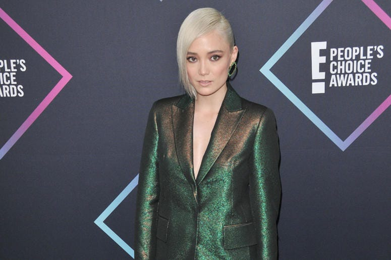 Pom Klementieff arrives at the 2018 E! People's Choice Awards held at the Barker Hangar in Santa Monica, CA on Sunday, ​November 11, 2018.