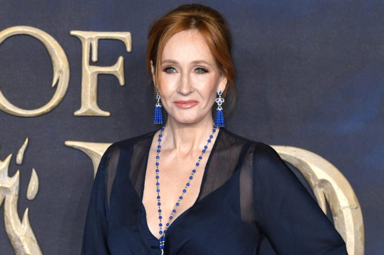 J K Rowling attending the Fantastic Beasts: The Crimes of Grindelwald UK premiere held at Leicester Square, London.