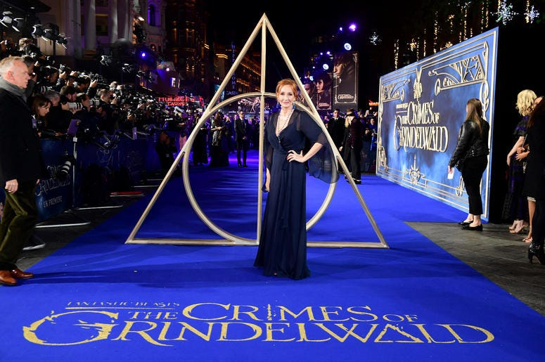 J.K. Rowling attending the Fantastic Beasts: The Crimes of Grindelwald UK premiere held at Leicester Square, London. (