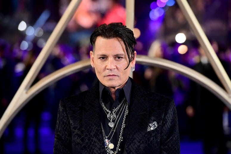 Johnny Depp attending the Fantastic Beasts: The Crimes of Grindelwald UK premiere held at Leicester Square, London.