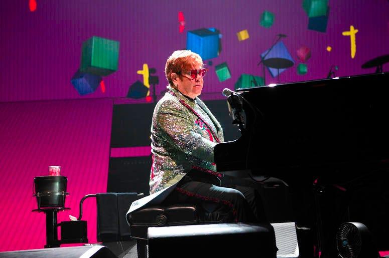 Elton John in Concert at the BB&T Center in Sunrise, Florida on November 23, 2018.