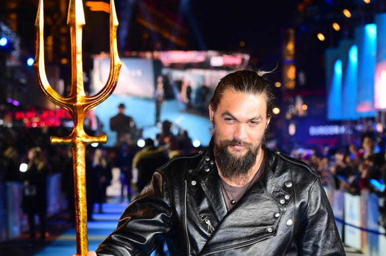 ason Momoa attending the Aquaman premiere held at Cineworld in Leicester Square, London.