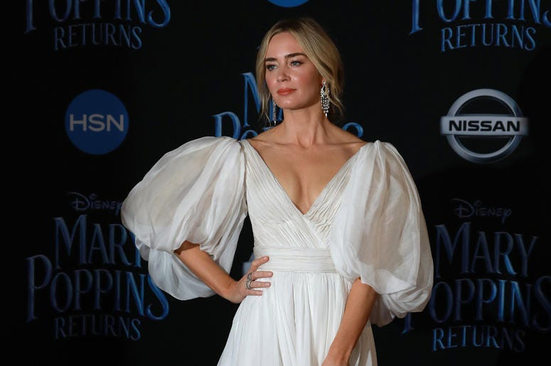 Emily Blunt at the Disney's 'Mary Poppins Returns' Los Angeles Premiere held at the Dolby Theatre on November 29, 2018 in Hollywood, CA, USA