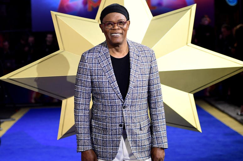 Samuel L. Jackson attending the Captain Marvel European Premiere held at the Curzon Mayfair, London. Picture date: Wednesday February 27, 2019