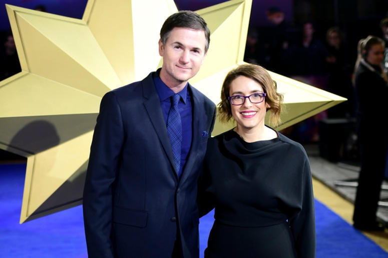 Director and writers Ryan Fleck (left) and Anna Boden attending the Captain Marvel European Premiere held at the Curzon Mayfair, London.