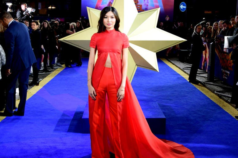 Gemma Chan attending the Captain Marvel European Premiere held at the Curzon Mayfair, London. Picture date: Wednesday February 27, 2019
