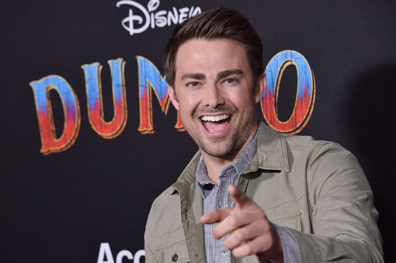 "Jonathan Bennett arrives at Disney's ""Dumbo"" Los Angeles Premiere held at the El Capitan Theatre in Hollywood, CA on Monday, March 11, 2019."