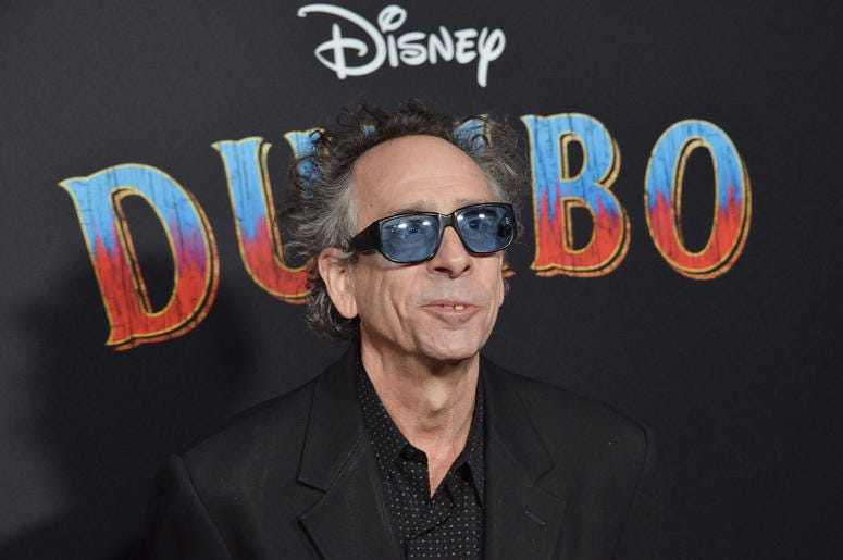 "Tim Burton arrives at Disney's ""Dumbo"" Los Angeles Premiere held at the El Capitan Theatre in Hollywood, CA on Monday, March 11, 2019"