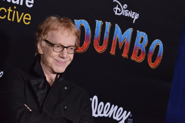 "Danny Elfman arrives at Disney's ""Dumbo"" Los Angeles Premiere held at the El Capitan Theatre in Hollywood, CA on Monday, March 11, 2019."