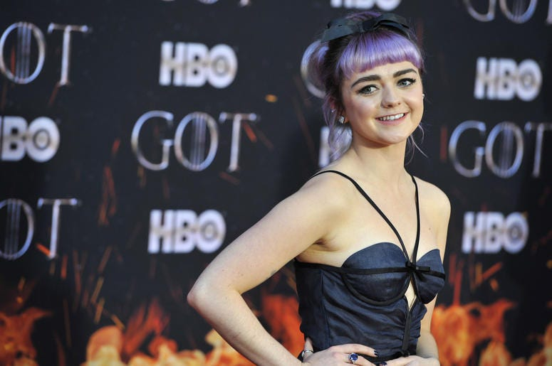 """Maisie Williams attends HBO's """"Game of Thrones"""" eight and final season premiere at Radio City Music Hall in New York, NY, April 3, 2019. ("""