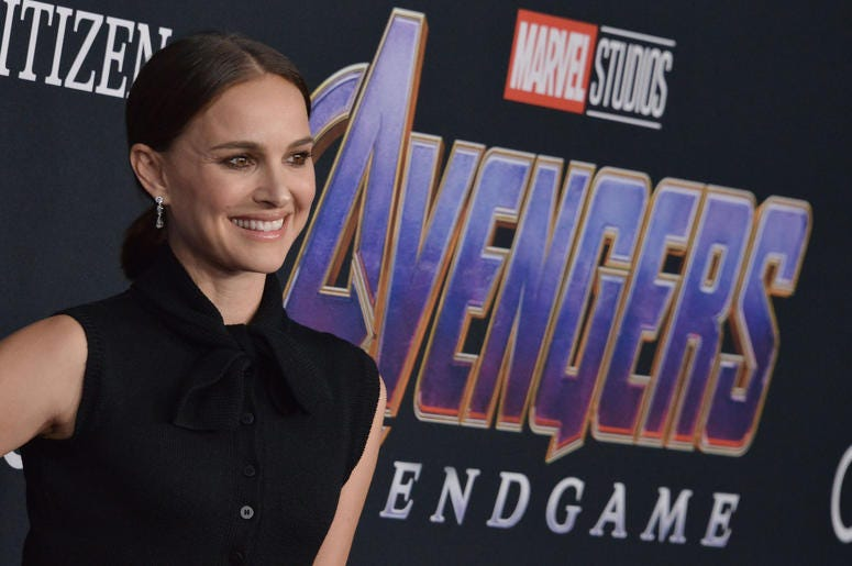 """Natalie Portman arrives at Marvel Studios' """"Avengers: Endgame"""" World Premiere held at the Los Angeles Convention Center in Los Angeles, CA on Monday, April 22, 2019."""