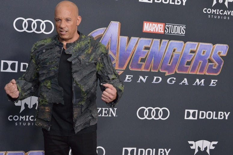 """Vin Diesel arrives at Marvel Studios' """"Avengers: Endgame"""" World Premiere held at the Los Angeles Convention Center in Los Angeles, CA on Monday, April 22, 2019."""