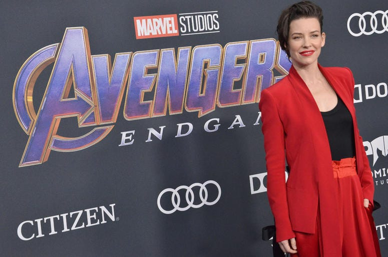 """Evangeline Lilly arrives at Marvel Studios' """"Avengers: Endgame"""" World Premiere held at the Los Angeles Convention Center in Los Angeles, CA on Monday, April 22, 2019."""