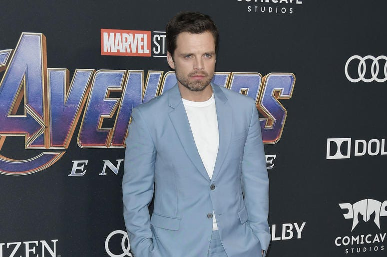"""Sebastian Stan arrives at Marvel Studios' """"Avengers: Endgame"""" World Premiere held at the Los Angeles Convention Center in Los Angeles, CA on Monday, April 22, 2019."""