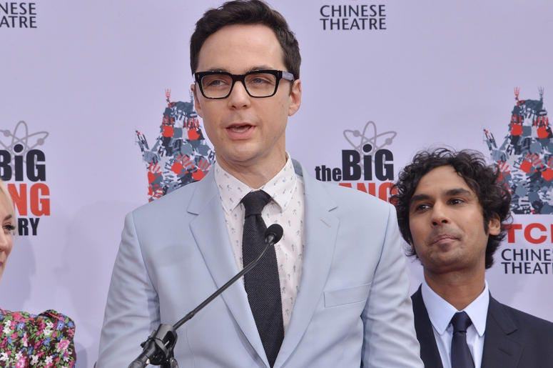"""Jim Parsons at The Cast of """"The Big Bang Theory"""" Handprints in Cement Ceremony held at the TCL Chinese Theatre in Hollywood, CA on Wednesday, May 1, 2019."""