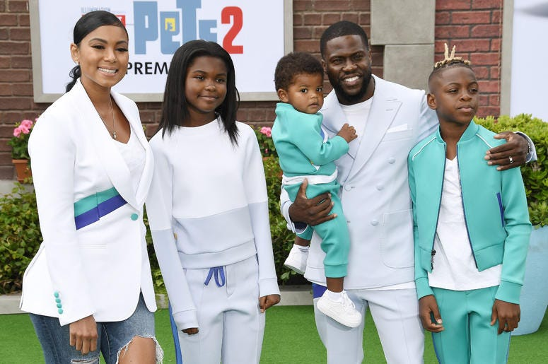 Eniko Parish, Kevin Hart and Children at the Universal Pictures THE SECRET LIFE OF PETS 2 Los Angeles Premiere held at the Regency Village Theatre in Westwood, CA on Sunay, June 2, 2019.