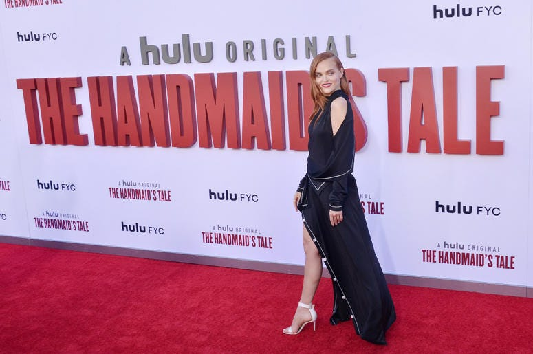 Madeline Brewer arrives at Hulu's THE HANDMAID'S TALE Season 3 Finale held at the Regency Village Theatre in Westwood, CA on Tuesday, August 6, 2019.