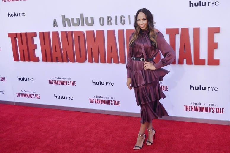Amanda Brugel arrives at Hulu's THE HANDMAID'S TALE Season 3 Finale held at the Regency Village Theatre in Westwood, CA on Tuesday, August 6, 2019.
